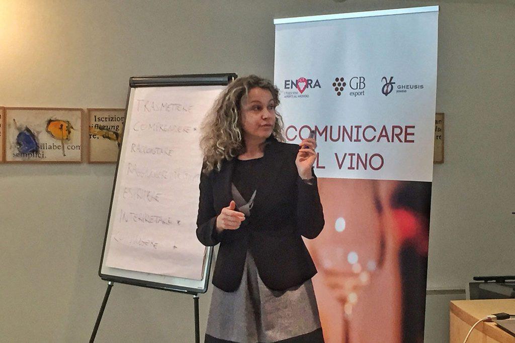 Silvia Baratta relatrice al corso Comunicare il vino